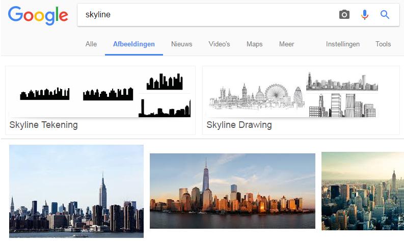 Google Afbeeldingen normaal