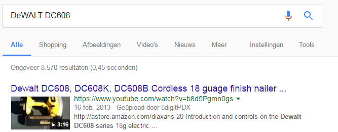 Google: weergave video's in zoekresultaten
