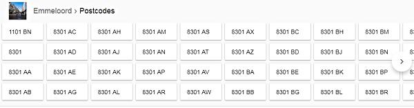 Google onebox postcodes