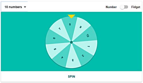 Google onebox spinner number