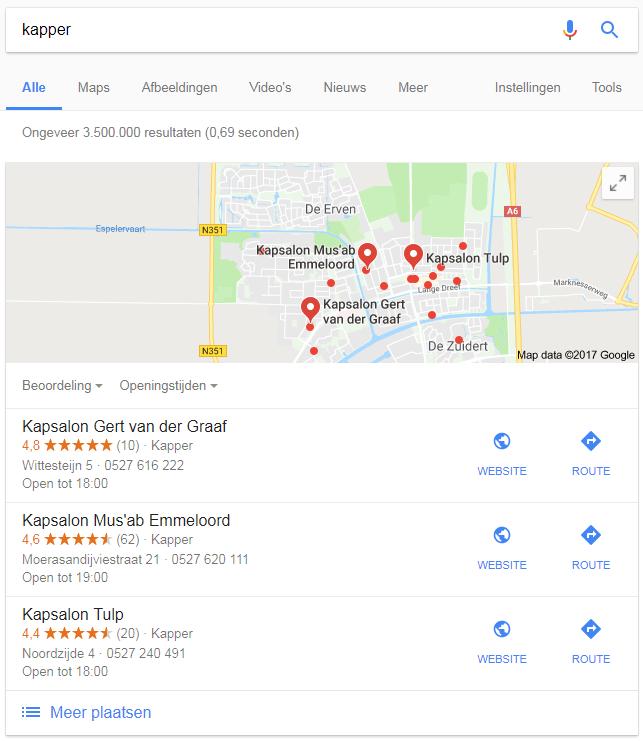 Lokale zoekresultaten nieuw pictogram 12-12-2017